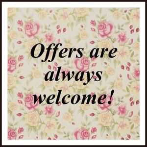 Other - Reasonable offers are always welcome! 😊